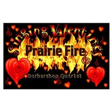 Prairie Fire Barbershop Quart Poster