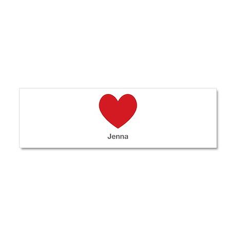Jenna Big Heart Car Magnet 10 x 3