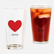 Jenna Big Heart Drinking Glass