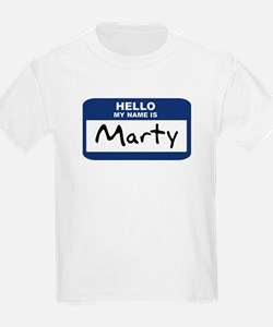 Hello: Marty Kids T-Shirt