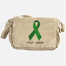 Personalized Green Ribbon (heart) Messenger Bag