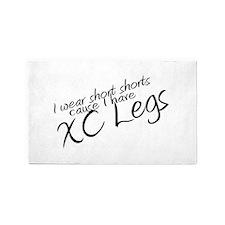 Short Shorts XC Legs 3'x5' Area Rug