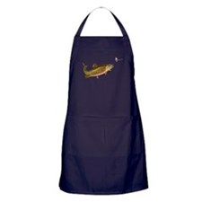 Vintage trout fishing illustration Apron (dark)