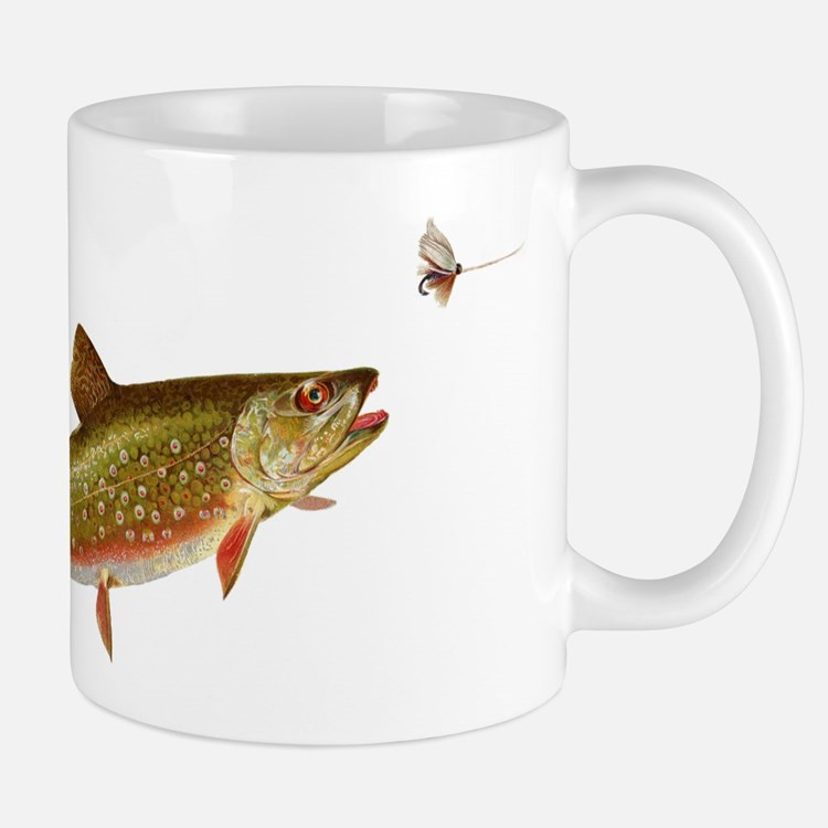 Vintage trout fishing illustration Mug