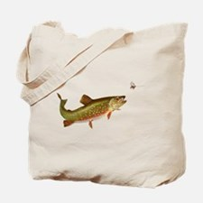 Vintage trout fishing illustration Tote Bag
