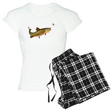 Vintage trout fishing illustration Pajamas