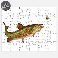 Vintage trout fishing illustration Puzzle