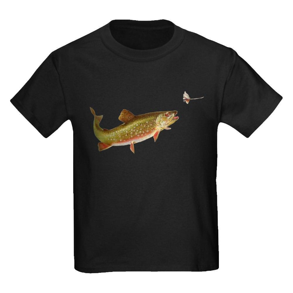 CafePress Vintage trout fishing illustration T-Shirt