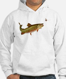 Vintage trout fishing illustration Hoodie