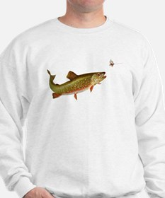 Vintage trout fishing illustration Sweatshirt