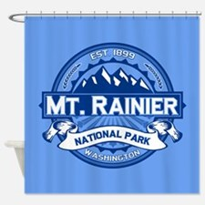 Mt. Rainier Ice Shower Curtain