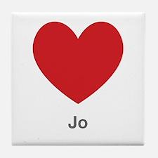 Jo Big Heart Tile Coaster