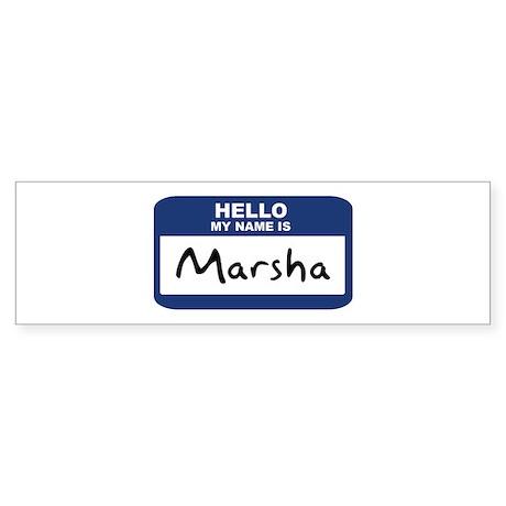 Hello: Marsha Bumper Sticker