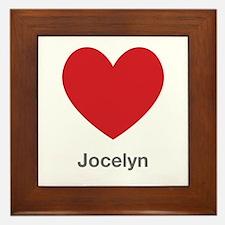 Jocelyn Big Heart Framed Tile
