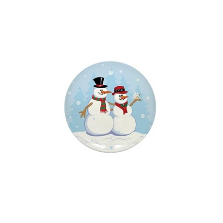 Snow- grandpa & grandma Mini Button (100 pack)