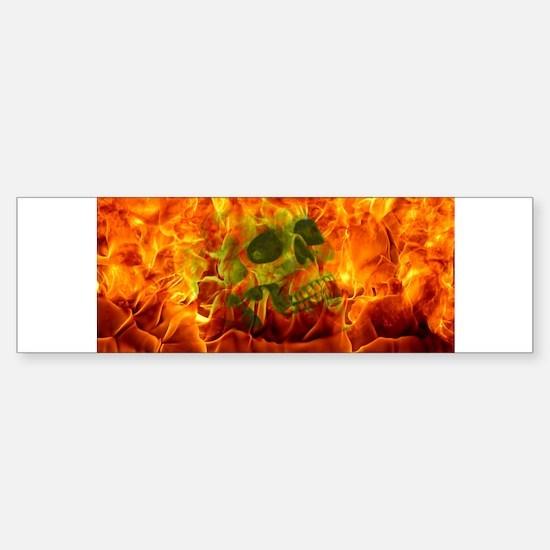 Burning skull Bumper Bumper Bumper Sticker