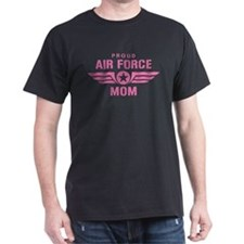 Proud Air Force Mom W [pink] T-Shirt