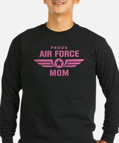Proud Air Force Mom W [pink] T