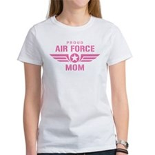 Proud Air Force Mom W [pink] Tee