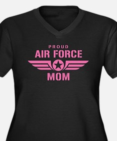 Proud Air Force Mom W [pink] Women's Plus Size V-N