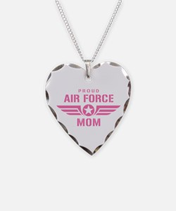 Proud Air Force Mom W [pink] Necklace