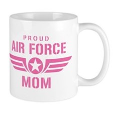 Proud Air Force Mom W [pink] Mug
