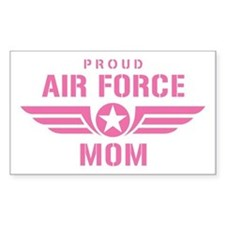 Proud Air Force Mom W [pink] Decal