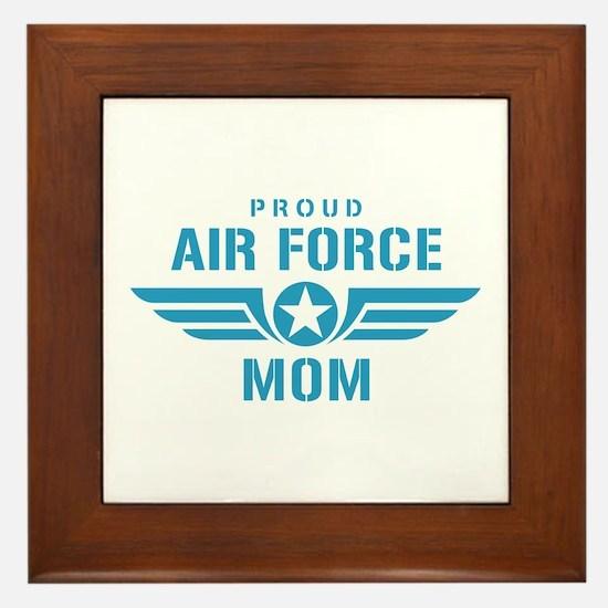 Proud Air Force Mom W Framed Tile