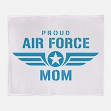 Proud Air Force Mom W Throw Blanket