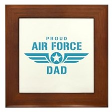 Proud Air Force Dad W Framed Tile