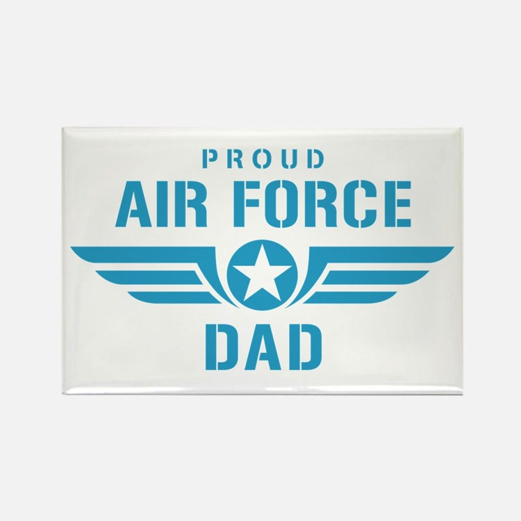 Proud Air Force Dad W Rectangle Magnet