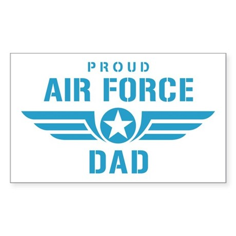 Proud Air Force Dad W Sticker (Rectangle)