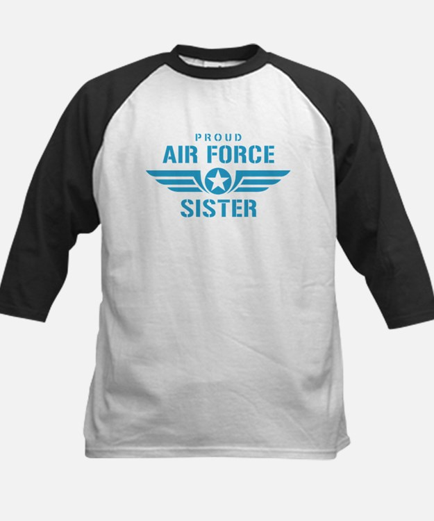 Proud Air Force Sister W Kids Baseball Jersey