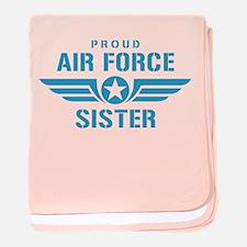 Proud Air Force Sister W baby blanket