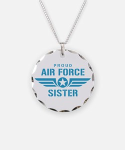Proud Air Force Sister W Necklace