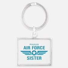 Proud Air Force Sister W Landscape Keychain