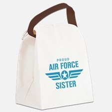 Proud Air Force Sister W Canvas Lunch Bag