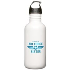 Proud Air Force Sister W Water Bottle