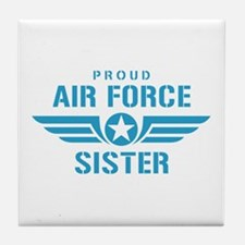 Proud Air Force Sister W Tile Coaster