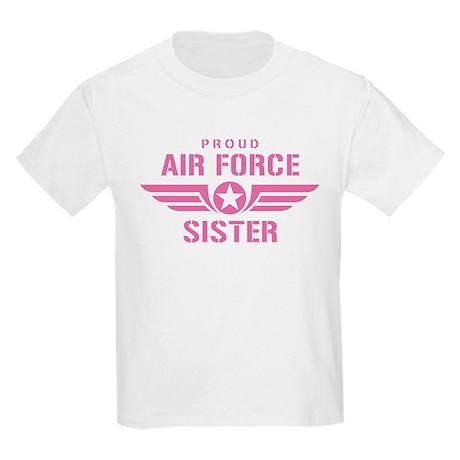 Proud Air Force Sister W [pink] Kids Light T-Shirt
