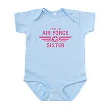 Proud Air Force Sister W [pink] Infant Bodysuit