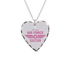Proud Air Force Sister W [pink] Necklace