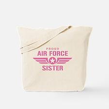 Proud Air Force Sister W [pink] Tote Bag