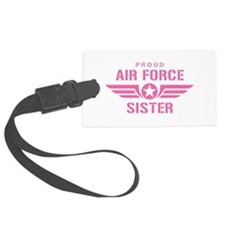 Proud Air Force Sister W [pink] Luggage Tag