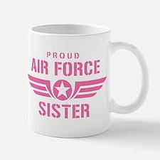 Proud Air Force Sister W [pink] Mug