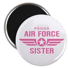 Proud Air Force Sister W [pink] Magnet