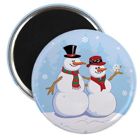 Snow- grandpa & grandma Magnet