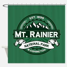 Mt. Rainier Forest Shower Curtain