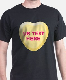 Banana Candy Heart Personalized T-Shirt