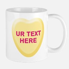 Banana Candy Heart Personalized Mug